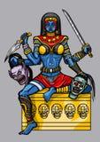 Kali Indian Goddess ilustração royalty free