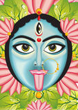Kali - Indian Goddess face. Vector illustration Royalty Free Stock Photography