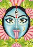 Kali - Indian Goddess face. Vector illustration Stock Illustration