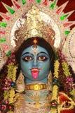 Kali - Indisch Godingezicht. Stock Foto
