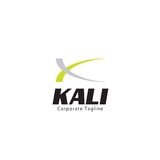 Kali Logo Template. Clean background for every presentation, high resolution, perfect detail work. Logo Template, can be customized in the EPS file. free font Stock Photo