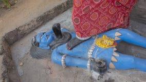 Kali Ma och gud Shiva Murti i den Jaipur templet Arkivfoton