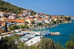 Kali - piccolo porto della città dei pescatori Fotografie Stock Libere da Diritti