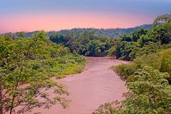 Kali Progo river on Java Indonesia at sunset Stock Photography