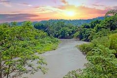 Kali Progo river on Java Indonesia at sunset Royalty Free Stock Photo