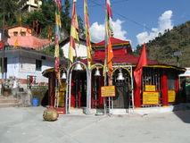 Kali Temple at KaliMath India. Kalimath village is regarded as a divine place and shakti peeth on the river Saraswati in the Himalayas, Rudraprayag District royalty free stock image