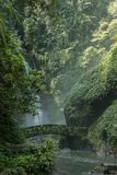 Kali waterfall near Medan, North Sulawesi, Indonesia - a popular tourist destination Stock Image