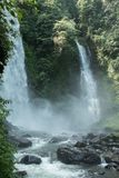 Kali waterfall near Medan, North Sulawesi, Indonesia - a popular tourist destination Royalty Free Stock Photos