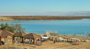 Kalia Beach at the Dead Sea Royalty Free Stock Photo