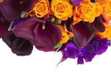 Kalia lilly i eustoma kwiaty Zdjęcie Stock