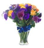 Kalia lilly i eustoma kwiaty Zdjęcia Stock