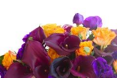 Kalia lilly i eustoma kwiaty Zdjęcia Royalty Free