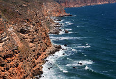 Kaliakra海角岩石和水  免版税图库摄影