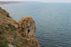 从Kaliakra海角的海洋看法 免版税库存图片