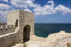 保加利亚海角中世纪堡垒的kaliakra 免版税库存图片