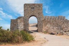 Kaliakra中世纪堡垒。 保加利亚 库存照片
