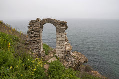 Kaliakra海角,黑海海岸,保加利亚 免版税库存图片