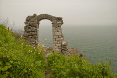 Kaliakra海角,黑海海岸,保加利亚 库存图片