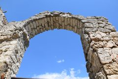 Kaliakra Arch in Bulgaria stock images