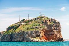 Kaliakra, headland, побережье Болгарии, Чёрного моря стоковые изображения