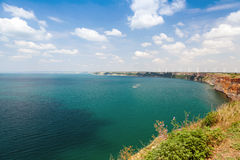 Kaliakra headland landscape, Bulgarian Black Sea Coast Royalty Free Stock Images