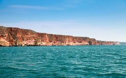 Kaliakra przylądkowy Bułgaria, czerni Denny wybrzeże Obraz Royalty Free