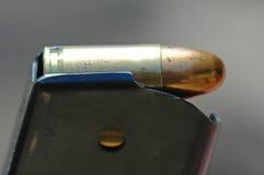 kaliber 9 mm magazynki z bliska Obraz Royalty Free