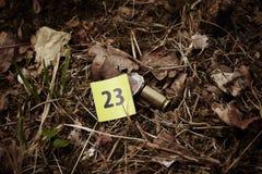kaliber Automatisk 45 på ställe av brottet Royaltyfri Bild