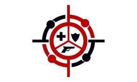 Kaliber strzelaniny centrum ilustracji