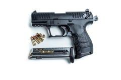 22 kaliberpistool Stock Afbeeldingen