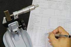 Kalibreringsmikrometer Arkivbilder