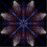 Kalidescope Fireworks Stock Image