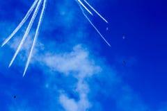 Kalifornia Błękitnego anioła lota bieg zdjęcie stock