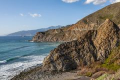 Kalifornia Brzegowy Sceniczny krajobraz Obraz Stock