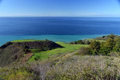 Kalifornia centrali wybrzeża big sur, usa obraz stock