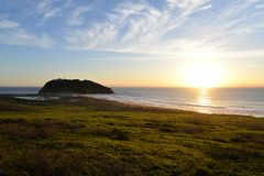 Kalifornia centrali wybrzeża plaża Big Sur, usa zdjęcie stock