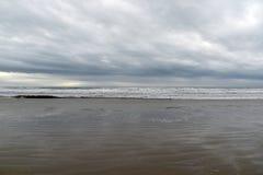 Kalifornia centrali wybrzeża plaży zła pogoda Pismo plaża, usa zdjęcie stock