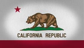 Kalifornia flaga Fotografia Stock