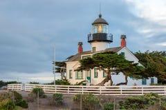 Kalifornia latarnia morska Punktu Pinos latarnia morska w Monterey, Kalifornia obraz stock