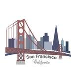 Kalifornia linii horyzontu budynków logo Zdjęcia Royalty Free