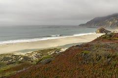 Kalifornia na sposobie Carmel, panoramiczny widok zdjęcia stock
