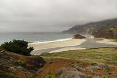 Kalifornia na sposobie Carmel, panoramiczny widok obrazy stock