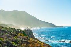 Kalifornia nabrzeżna trasa 1 obrazy stock