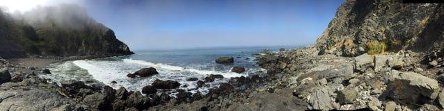 Kalifornia oceanu skalista plaża fotografia royalty free