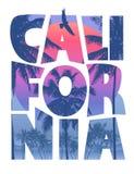 Kalifornia plaży literowanie Obraz Royalty Free