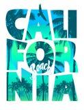 Kalifornia plaży literowanie Zdjęcie Stock
