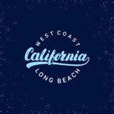 Kalifornia ręka pisać literowanie Grunge tekstura zdjęcia stock