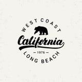Kalifornia ręka pisać literowanie z niedźwiedziem Zdjęcie Royalty Free