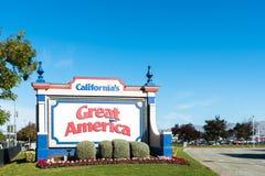 Kalifornia ` s Ameryka Wielki znak Zdjęcie Royalty Free
