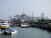 Kalifornia San Fransisco, molo 39 i widok miasto, zdjęcie royalty free